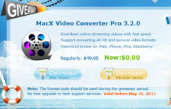 MacX Video Converter Pro Giveaway (Mac & Windows version)