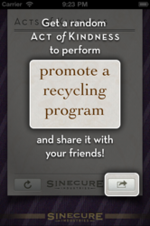 The user can also share their action with their friends