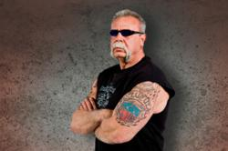 Paul Teutul Sr. of Orange County Choppers, designer and builder of Feather Free Zone custom chopper