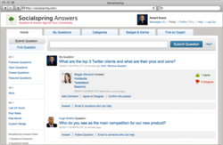 Socialspring Answers main questions and answers stream.