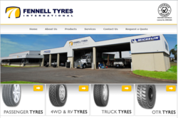 Fennell Tyres International website screenshot