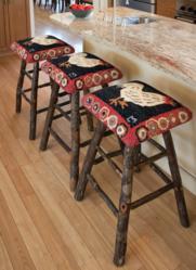Chandler 4 Corners hand made hickory stools