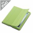Smart Leather Case (Ultra Slim) For iPad2 Cover with Black, Green, Skyblue, Red and Orange Colors