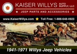 Kaiser Willys Auto Supply, Parts for 1941-1971 Willys and Jeep Vehicles