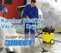 Karcher Wet/Dry Vacs and Floor Dryer @ Sump Pumps Direct