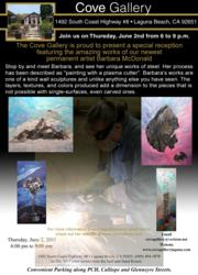 Reception for newest permanent artist at Cove Gallery - Barbara McDonald