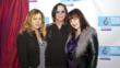 (L to R): Vicki Peterson (The Bangles) with husband John Cowsill (musician, songwriter, and producer) and Tish Ciravolo, Tish Ciravolo, President and Founder of Daisy Rock Girl Guitars.