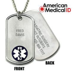 Medical ID Dog Tags