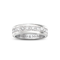 Personalized Diamond Couples Ring