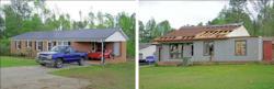 Sanford, N.C. Tornado Roof Damage Comparison