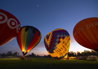 Evening Balloon Glow by Chip Morton
