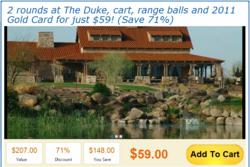 Get 71% off golf at The Duke in Maricopa, just one of many great golf deals offered by Par Stars Deals