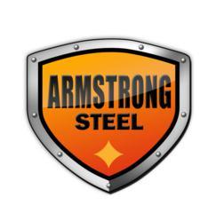 Steel building, metal building company logo