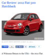 2012 fiat 500 car review