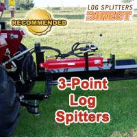 3 point log splitter, pto log splitter, 3 point splitters, pto splitters
