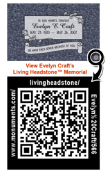 Sample QR Code on Headstone