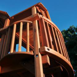 Beautiful Redwood Swing Set Deck