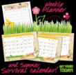 Summer Survival Calendar Graphic