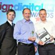 Signbox receiving best Best Sign Company Award 2010