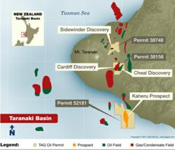 Taranaki Basin Map