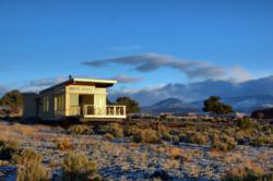 Stillwater's red rock Utah prefabricated home at sunrise