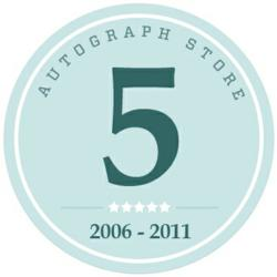Autograph Store Charity Fundraising celebrates 5 years of fundraising ideas for charity auctions.