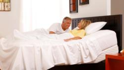 Healthy Back Store SleepSystem with adjustable base and wireless remote. ergonomic pillows.