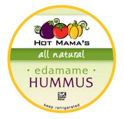 Hot Mama's Foods Edamame Hummus Label