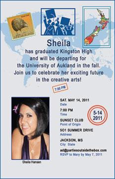 passport graduation invitation insideinvitation opens like a passport with party details personalized inside - Personalized Graduation Invitations