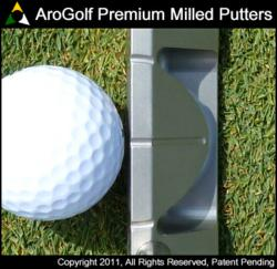 AroGolf iON1 Face Balanced putter featuring a patent pending alignment design