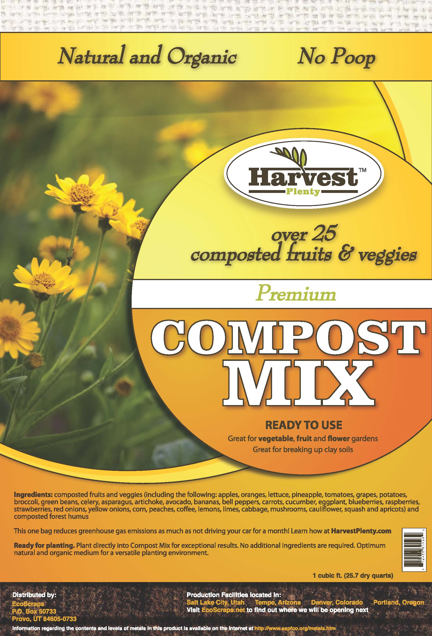Ecoscraps leads compost revolution in the west for Harvest organic soil