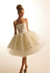 Beautiful short wedding gown by Oksana Couture