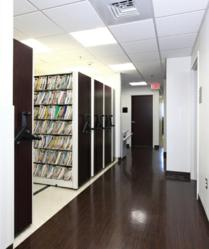 MobileTrak3® and ThinStak® combine to provide almost 50 percent more storage space than traditional shelving.