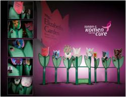 The Trade Group's Susan G. Komen for the Cure exhibit: Elizabeth's Garden