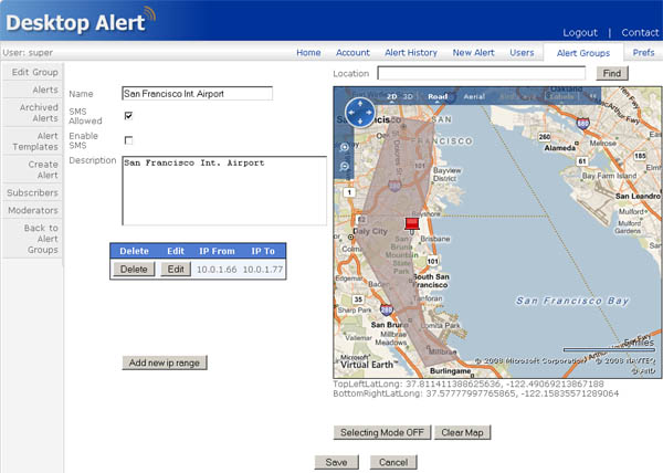 gis alerting using common alerting protocol