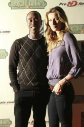 Don Cheadle and Gisele Bundchen pose for a photo at Loyal Studios for UNEP