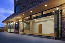 Photo of NanaWall folding glass system that meets Passive House Standards.