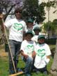 "Ignacio Barcotelli, founder and president of ""I Clean LA"" with some of the volunteers who participated in the clean up at MacArthur Park for World Environment Day."