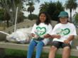 Taking a well deserved break from their clean up efforts at MacArthur Park on June 5th at MacArthur Park