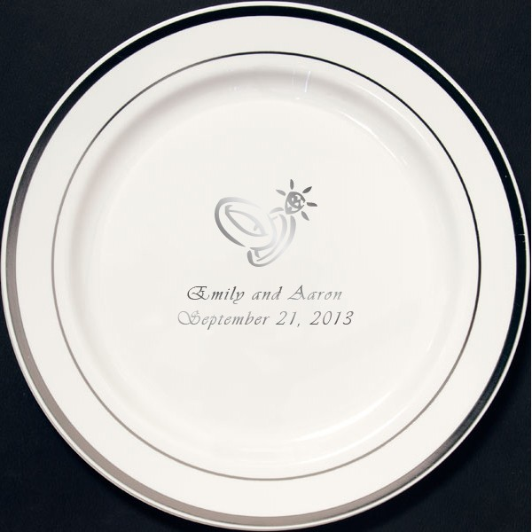 Add Personalized Party Plates To Your Wedding Reception And