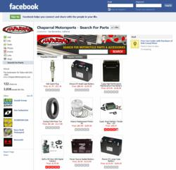 Chaparral Motorsports' Search Parts Facebook App
