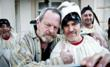 "Terry Gilliam with Italian actor nicola De Maria on the set of ""the Wholly Family"", produced by Pasta Garofalo Firma il Cinema"