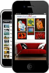 overstockArt.com iPhone App - View Art in Room