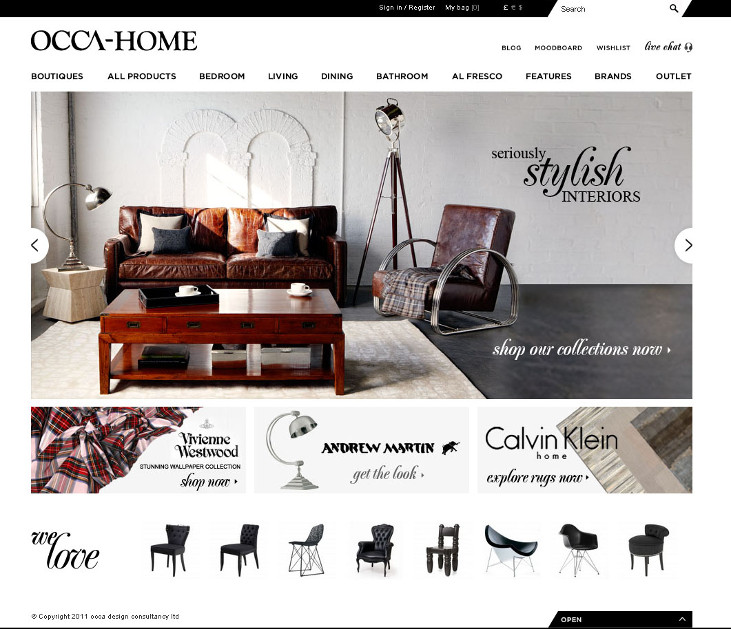 Recently re-launched, the new, innovative http://www.occa-home.co ...
