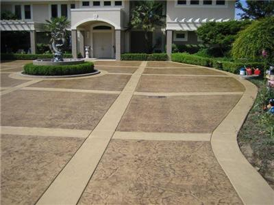 Decorative Concrete Driveway One Of Many Concrete Design Options For A