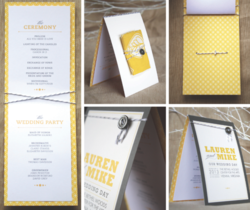 Minted Wedding Program