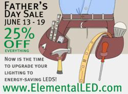 LED Lighting Father's Day Sale - Get 25% Off All LED Products!