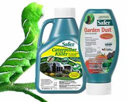 Safer Brand Caterpillar Killer and OMRI Listed Garden Dust