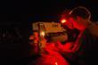Red light for Night Vision Adaptation