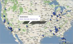 FieldLevel Athletic Software Recruiting Map Feature